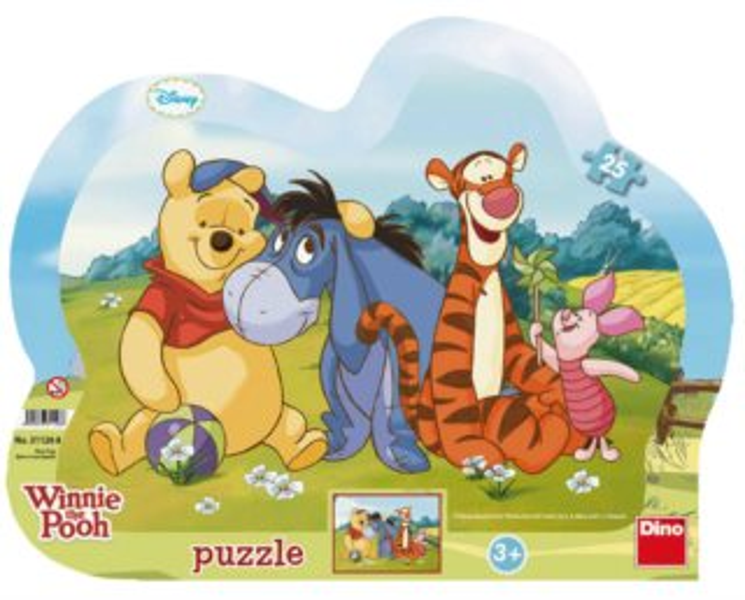 DINO Puzzle Medvídek Pú a kamarádi 25 dílků