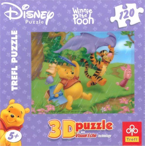 TREFL Puzzle Medvídek Pú: Déšť 3D 120 dílků