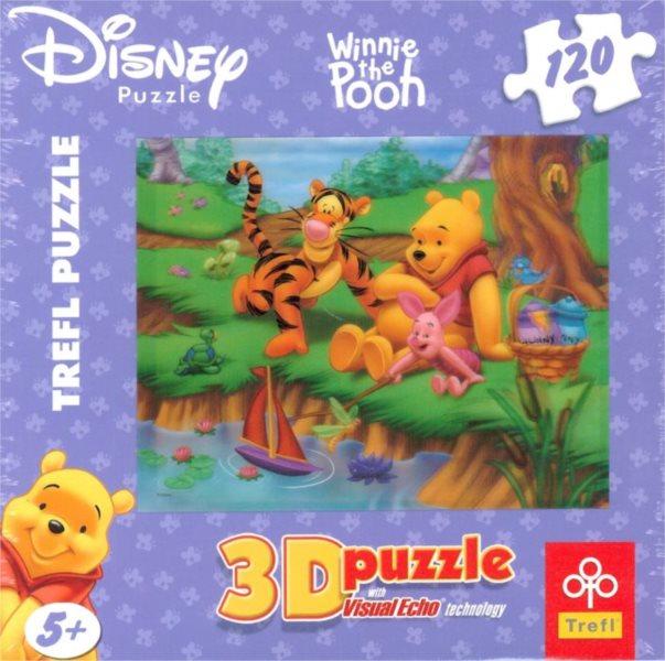 TREFL Puzzle Medvídek Pú: Lodička 3D 120 dílků