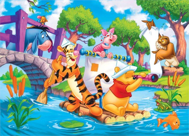 CLEMENTONI Puzzle Medvídek Pú MAXI 24 dílků