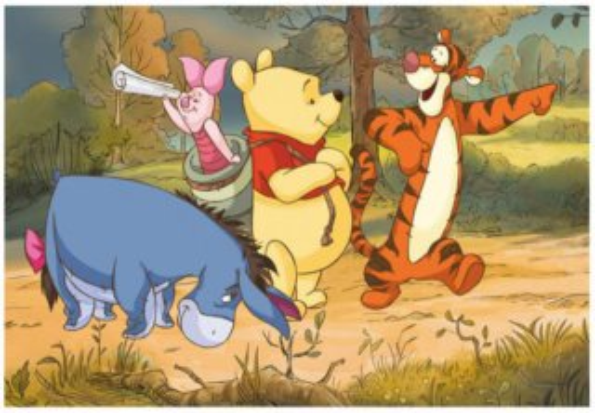 Dětské puzzle DINO 24 dílků - Medvídek Pú na výpravě