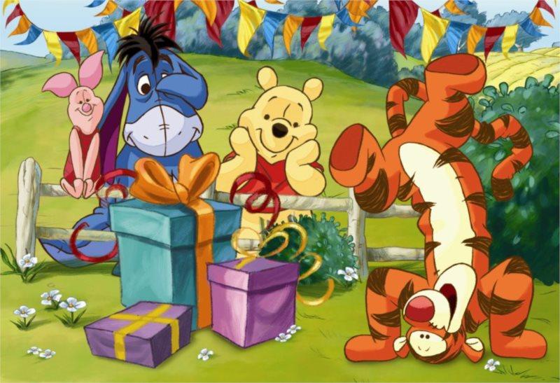 Dětské puzzle DINO 66 dílků - Medvídek Pú: Oslava
