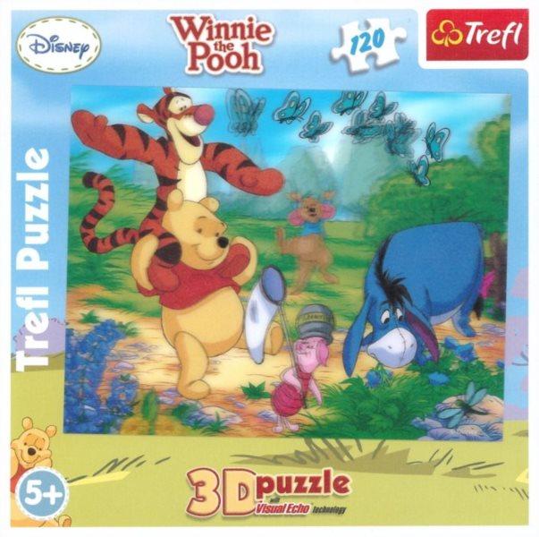 TREFL Puzzle Medvídek Pú: Procházka 3D 120 dílků