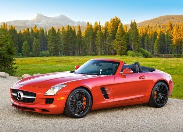 Dětské puzzle 120 dílků - Mercedes-Benz SLS Roadster