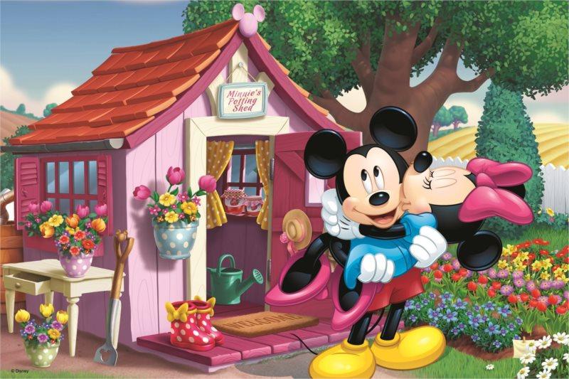 TREFL Puzzle Mickey a Minnie na zahradě 60 dílků 7f70213aacf