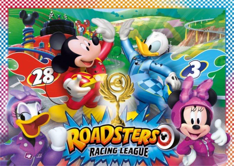 CLEMENTONI Puzzle Mickey a závodníci MAXI 104 dílků