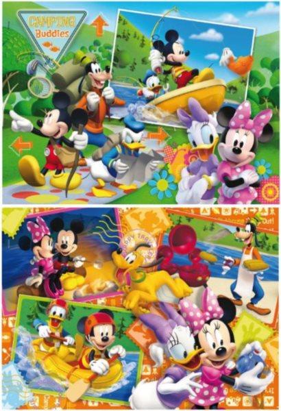 CLEMENTONI Puzzle Mickey Mouse a Minnie s přáteli 2x20 dílků