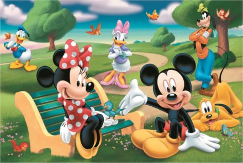 TREFL Puzzle Mickey Mouse: Mezi přáteli MAXI 24 dílků