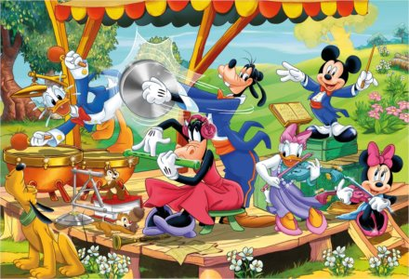 CLEMENTONI Puzzle Mickey Mouse a přátelé MAXI 24 dílků