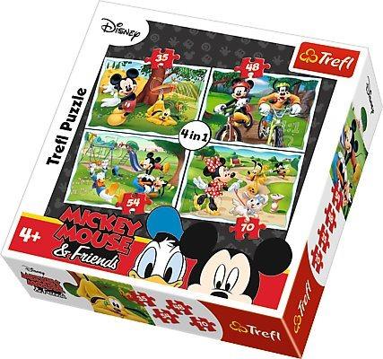 TREFL Puzzle Mickey Mouse a přátelé v parku 4v1 (35,48,54,70 dílků)