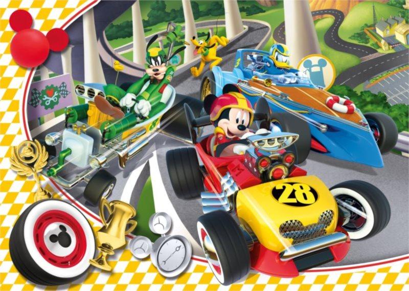 CLEMENTONI Puzzle Mickey Mouse na závodech 60 dílků