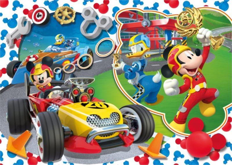 CLEMENTONI Puzzle Mickey Mouse: Na závodním okruhu MAXI 104 dílků