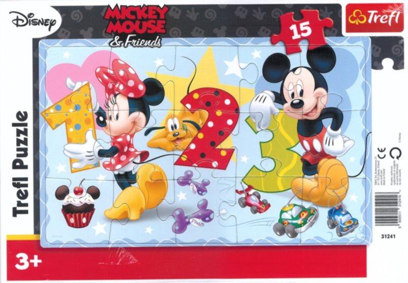 TREFL Puzzle Mickey Mouse: Počítání 15 dílků