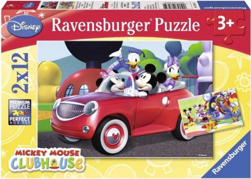 RAVENSBURGER Puzzle Mickey Mouse s přáteli 2x12 dílků
