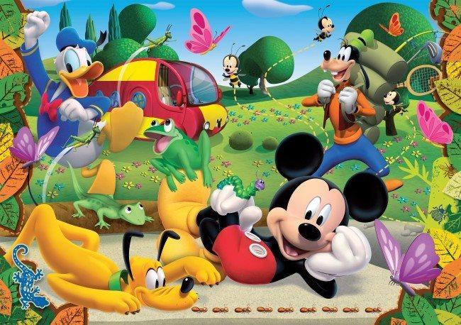 CLEMENTONI Puzzle Mickey Mouse: V parku MAXI 104 dílků