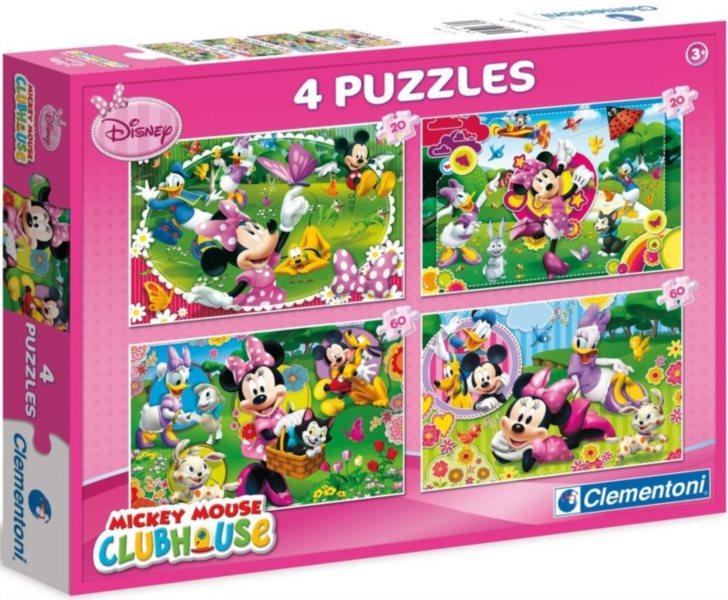 Dětské puzzle - Minnie (2x20, 2x60 dílků)
