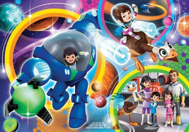 CLEMENTONI Puzzle Miles z budoucnosti: Rodina MAXI 104 dílků