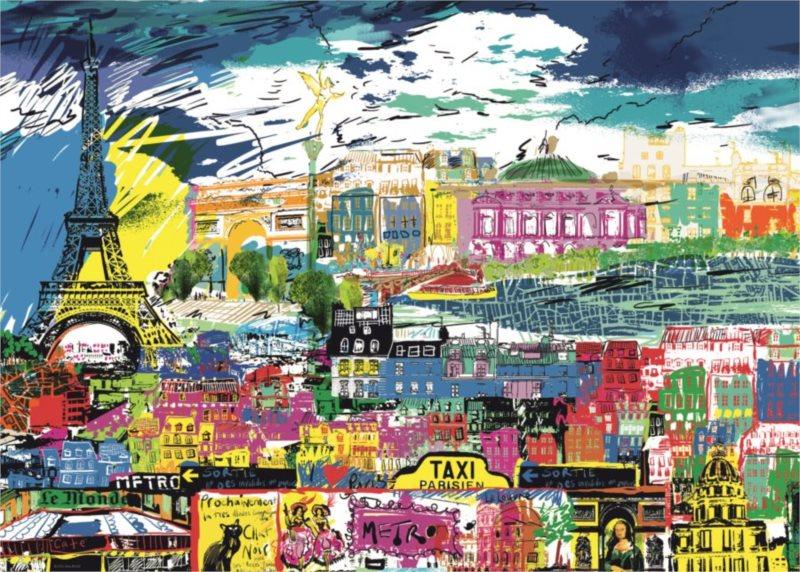 Puzzle HEYE 1000 dílků - Miluji Paříž!