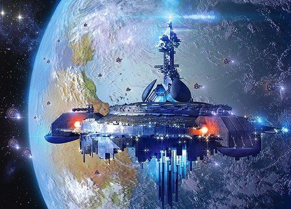 CASTORLAND Puzzle Kosmická loď 120 dílků