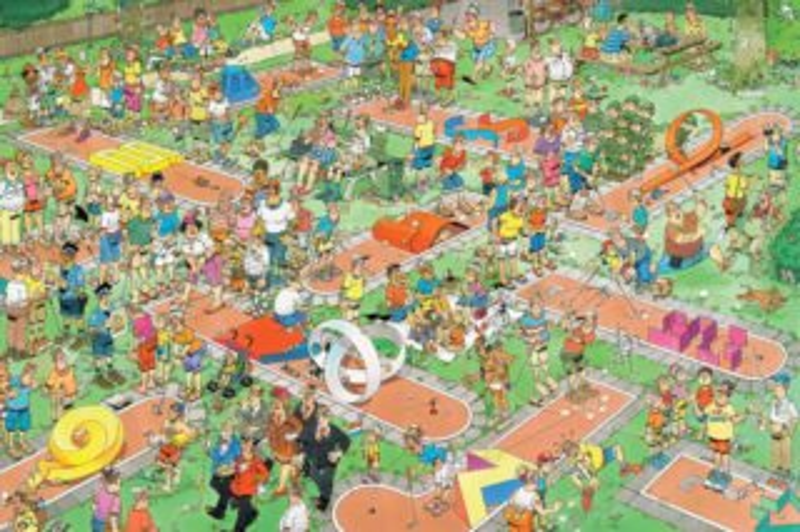 JUMBO Puzzle Minigolf 1500 dílků