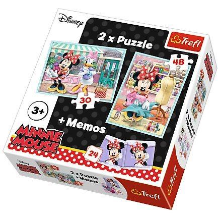 TREFL Puzzle Minnie 30+48 dílků + pexeso