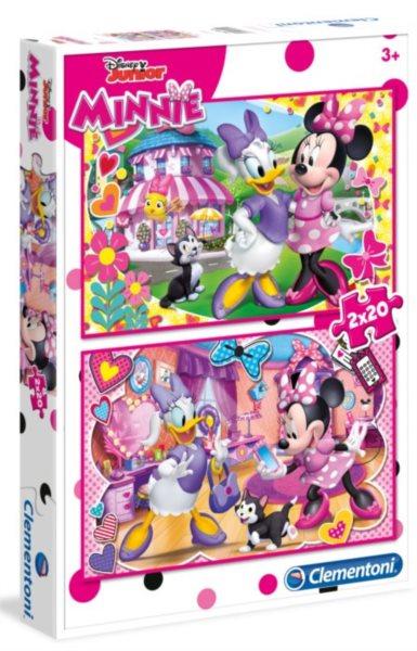 CLEMENTONI Puzzle Minnie a Daisy 2x20 dílků