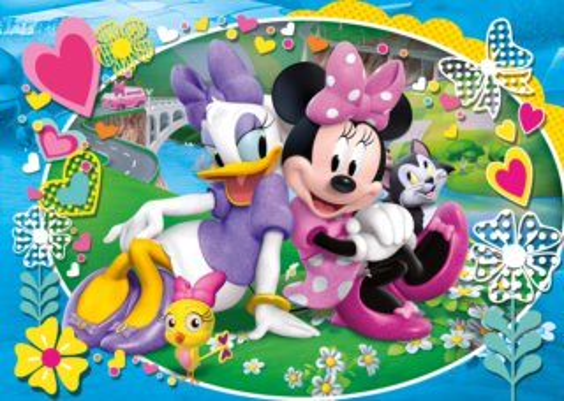 CLEMENTONI Puzzle Minnie a Daisy: Na výletě MAXI 104 dílků