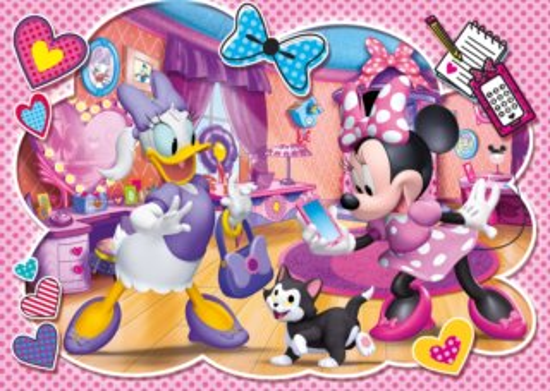 CLEMENTONI Puzzle Minnie a Daisy s kotětem 60 dílků