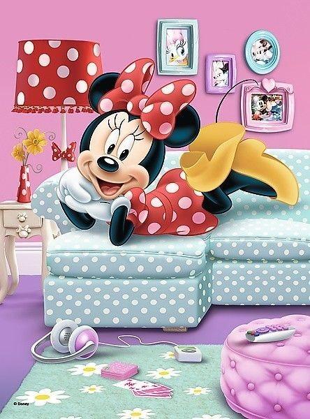 TREFL Puzzle Minnie Mouse  Na gauči 20 dílků eaf31f4a3b6