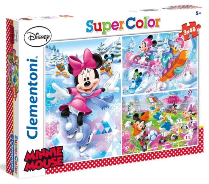 CLEMENTONI Puzzle Minnie Mouse: Sport 3x48 dílků