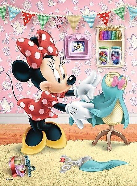 TREFL Puzzle Minnie Mouse  V šicí dílně 20 dílků ed4500021a0