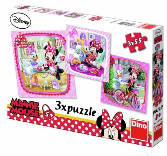 DINO Puzzle Minnie na návštěvě 3x55 dílků