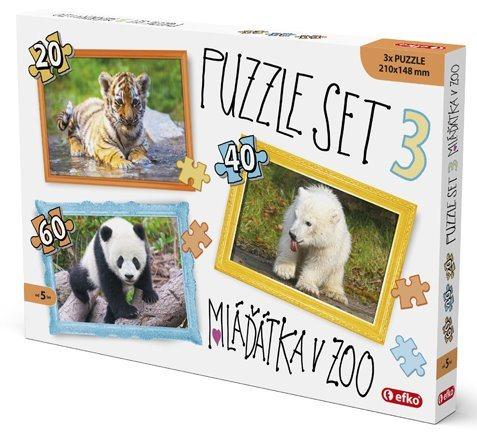 EFKO Puzzle Mláďátka v ZOO 3v1 (20,40,60 dílků)