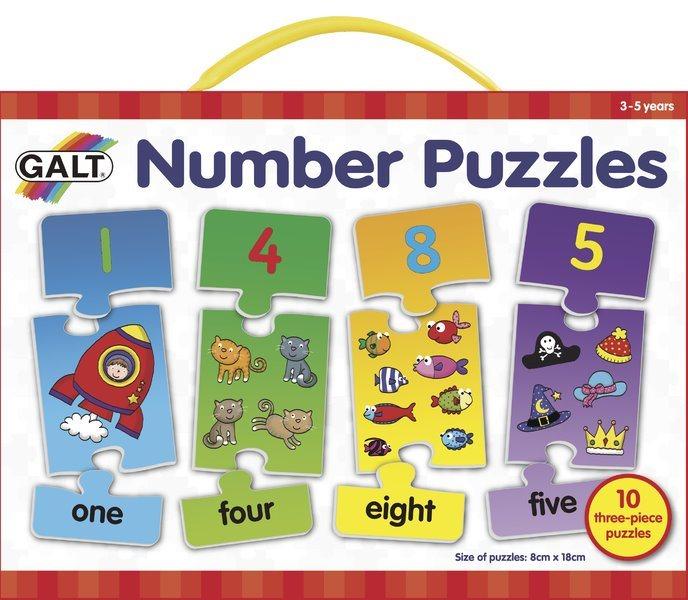 GALT Puzzle Moje první anglické číslice 10x3 dílků
