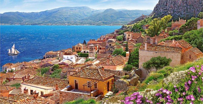 Puzzle CASTORLAND 4000 dílků - Monemvasia, Řecko