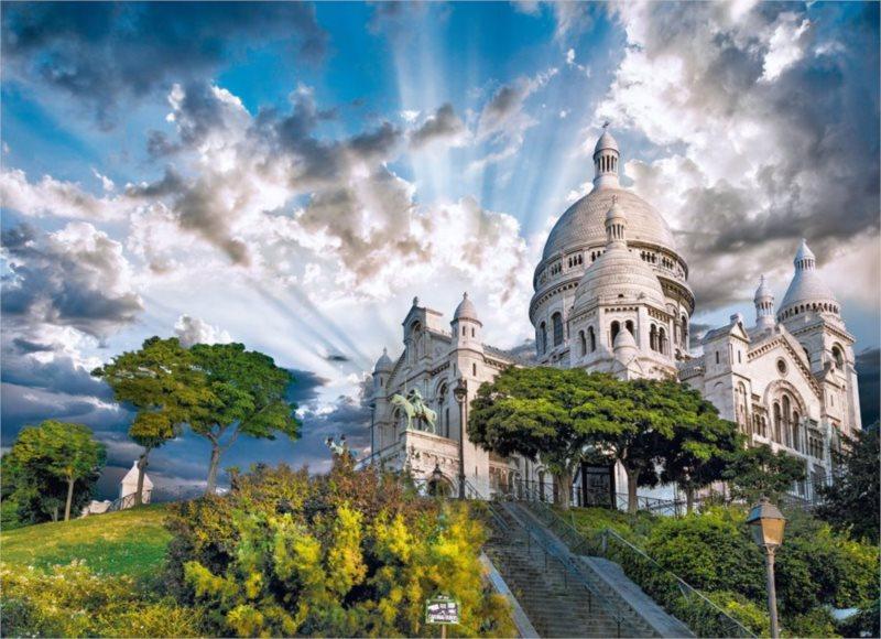 CLEMENTONI Puzzle Montmartre, Paříž 1000 dílků