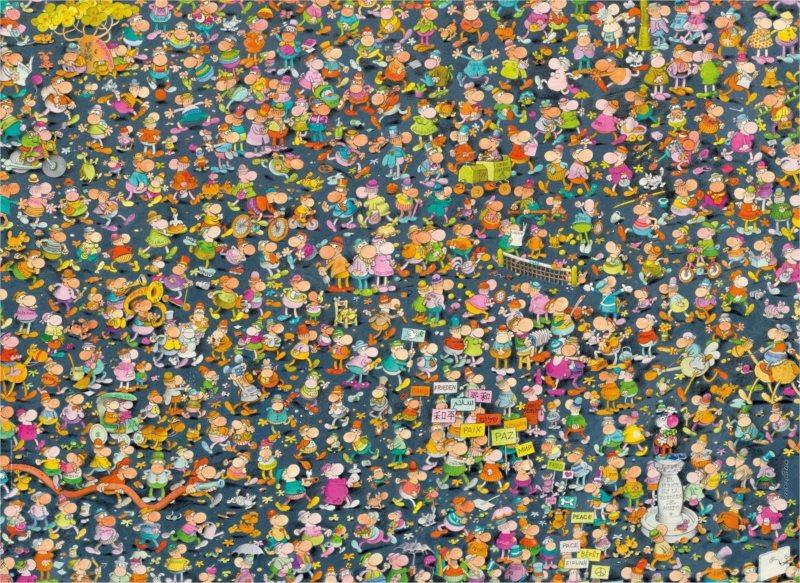 CLEMENTONI Puzzle Impossible: Mordillo 1000 dílků