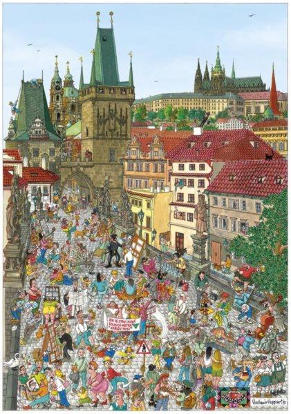 DINO Puzzle Mostecká věž, Praha 500 dílků