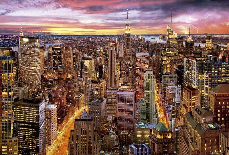 EDUCA Puzzle Mrakodrapy na Manhattanu, New York 3000 dílků