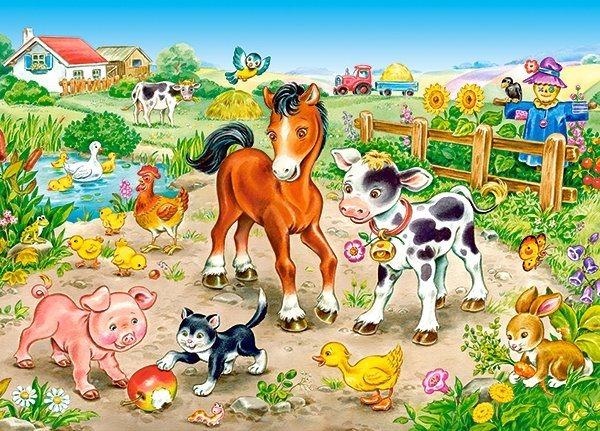 CASTORLAND Puzzle Na farmě 120 dílků