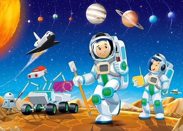 CASTORLAND Puzzle Na jiné planetě 60 dílků