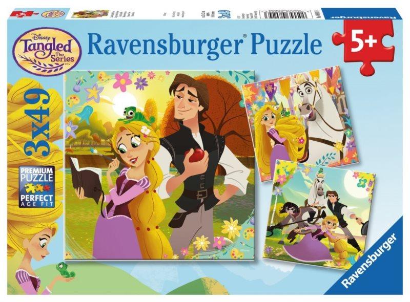 RAVENSBURGER Puzzle Na vlásku 3x49 dílků