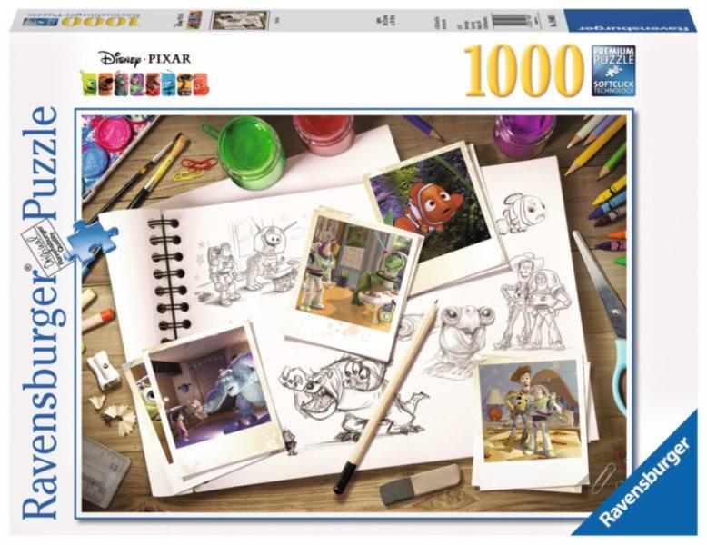 RAVENSBURGER Puzzle Nákresy Disney Pixar 1000 dílků