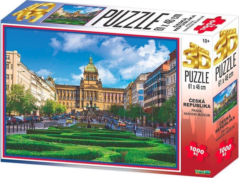 PRIME 3D Puzzle Národní muzeum, Praha 3D 1000 dílků