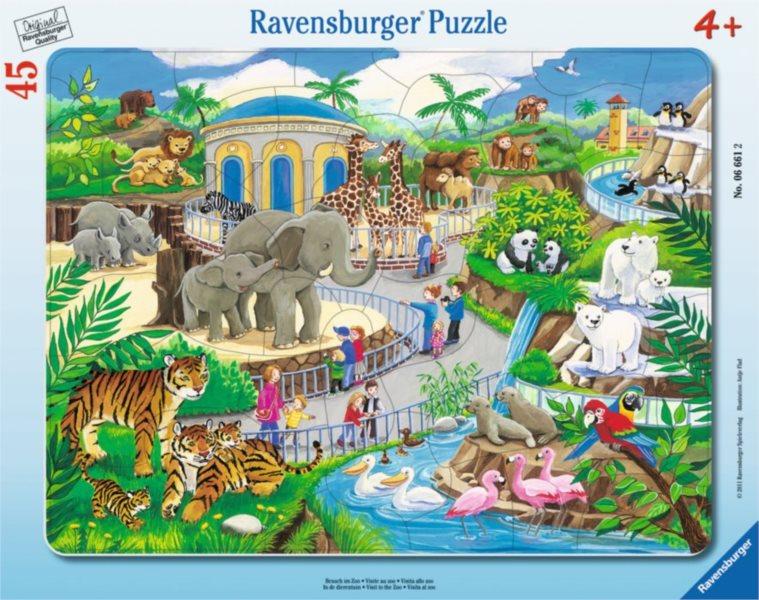 RAVENSBURGER Puzzle Návštěva v ZOO 45 dílků