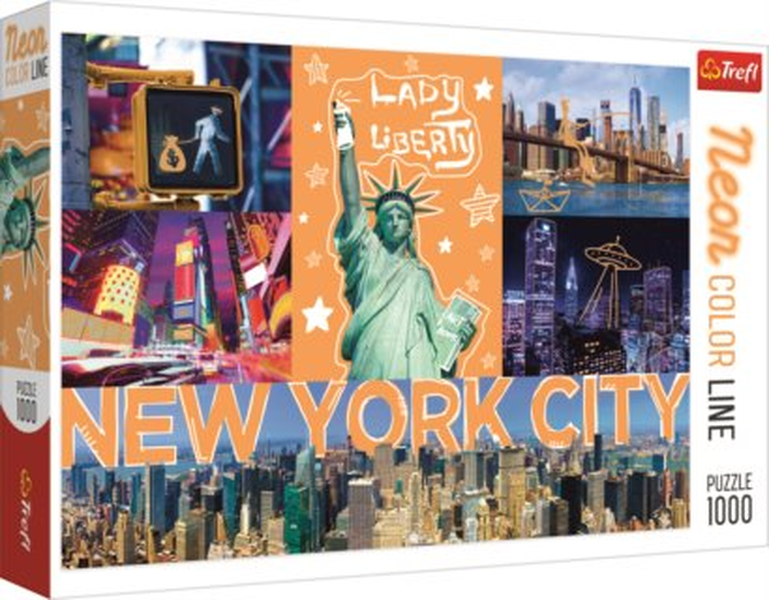TREFL Puzzle Neon Color Line New York 1000 dílků