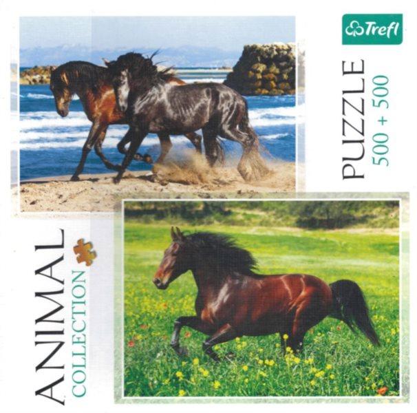 TREFL Puzzle Nespoutaní koně 2x500 dílků