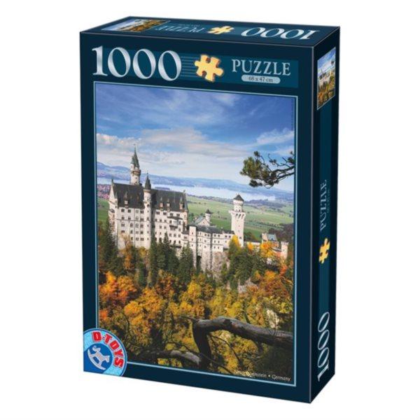 D-TOYS Puzzle Neuschwanstein, Německo 1000 dílků