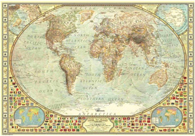 ANATOLIAN Puzzle Mapa světa 2000 dílků
