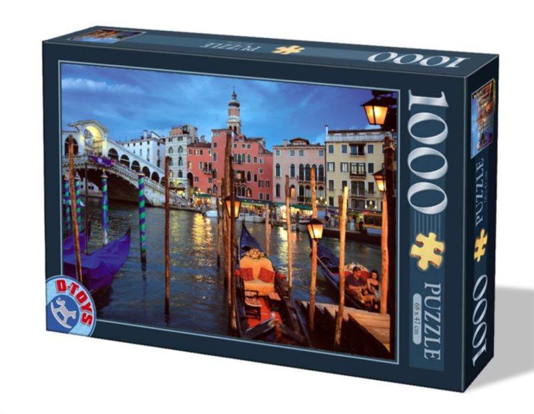 D-TOYS Puzzle Noční Benátky, Itálie 1000 dílků
